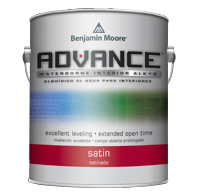 Advance Benjamin Moore Waterborne Interior Alkyd is one of the best trim paints because it levels like an oil paint, but is a waterbased paint.
