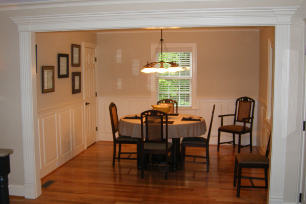 Raised Panel Wainscoting In A Dining Room
