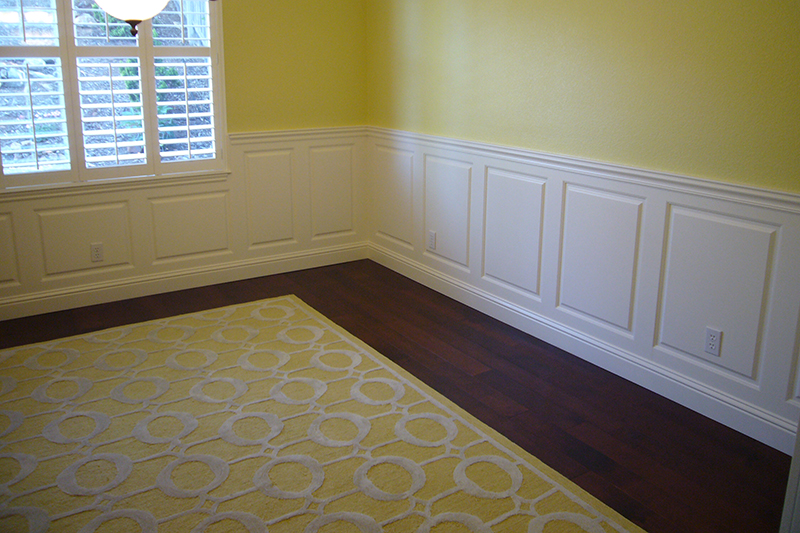 Beaded Raised Panel Wainscoting In A Dining Room In Cameron Park, CA