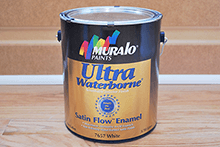 Muralo Ultra Waterborne Satin Flow Enamel is one of the best latex paints because it levels like an oil paint, but is a waterbased paint.