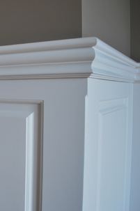 The beautiful Top Cap and Chair Rail Molding adds elegance to your wainscoting trim. Installed in Wolcott, Connecticut