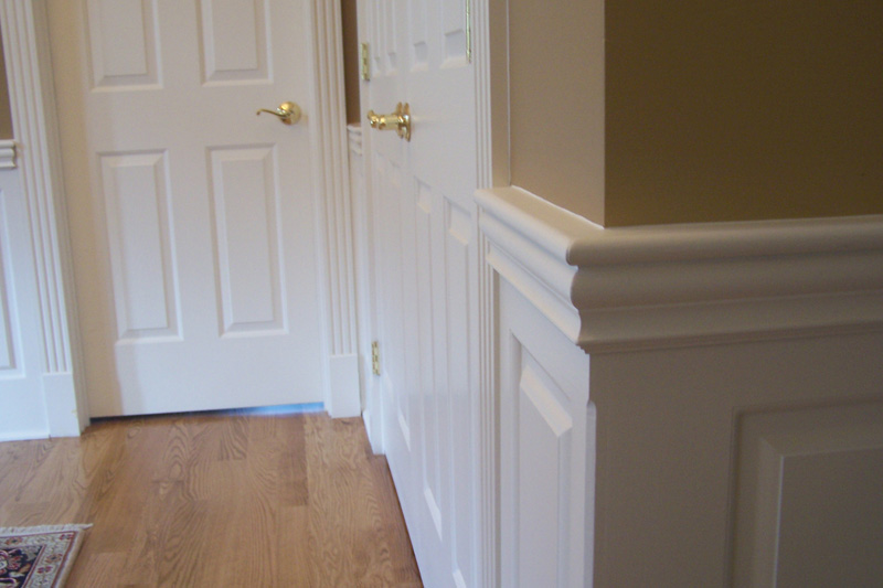 Raised Panel Wainscoting in a hallway