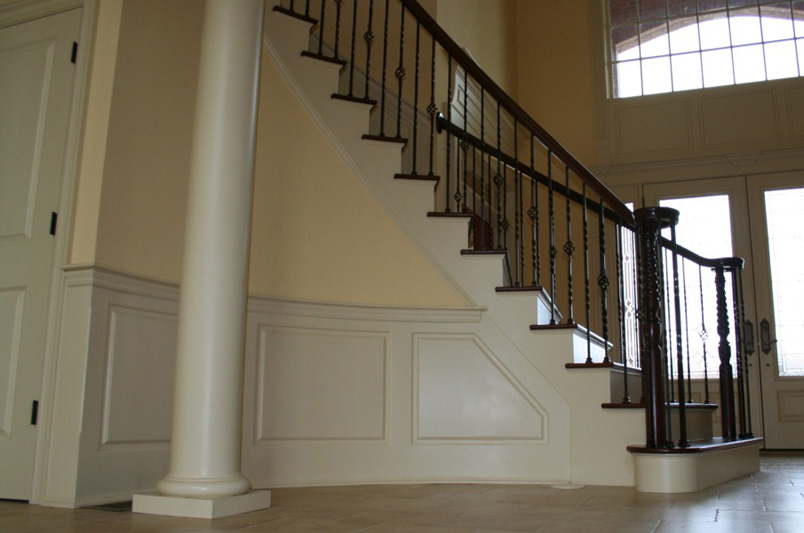 Staircase Raised Panel Wainscoting